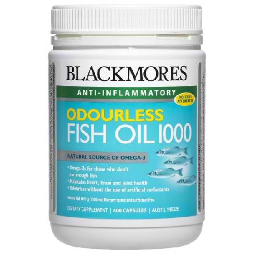 Blackmores odourless fish oil 400 capsules 100 natural for Fish oil pregnancy
