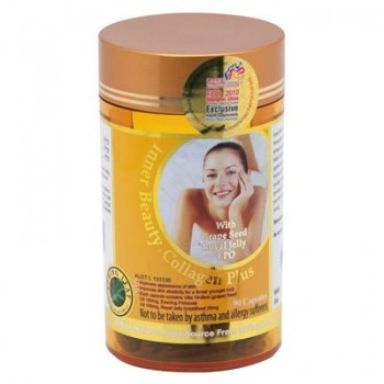 Spring Leaf Inner Beauty Collagen Plus with Grape Seed, Royal Jelly, EPO – 90 Capsules