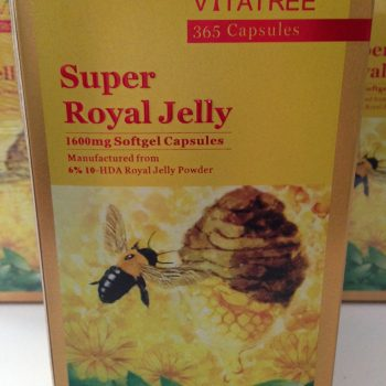 VITATREE Super Royal Jelly 1600mg Softgel Capsules – 365 Capsules