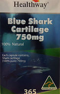 Healthway Blue Shark Cartilage 750mg – 365 Capsules