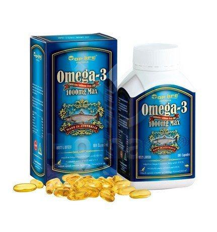 Top life omega 3 salmon fish oil 1000 mg 180 capsules for Fish oil recommendations