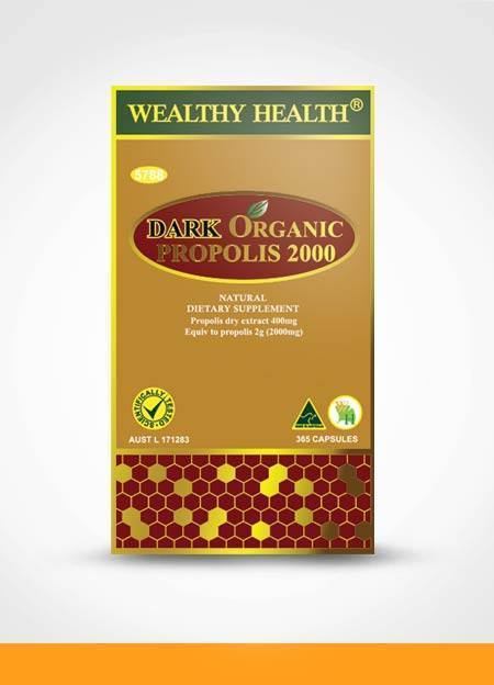 Dark Organic Propolis 2000 mg : Wealthy Health 365